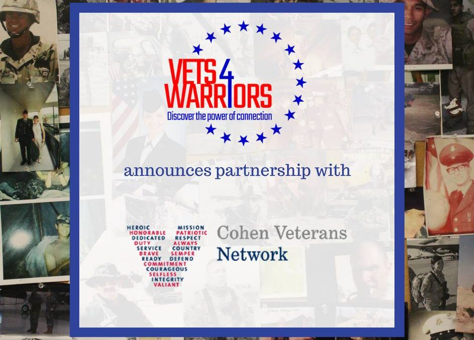 Cohen Veterans Network Announces Collaboration with Leading Military Peer Support Nonprofit Vets4Warriors